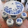 景德鎮生產陶瓷1米桌凳廠家 家用青花戶外手繪瓷桌凳