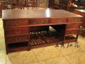 紅木辦公桌家具榫卯雕花知識