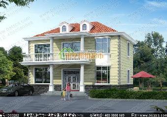 2016年新款造价20万以内农村自建房别墅12米x