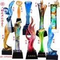 云浮有各種款式琉璃獎杯年終會議獎杯活動頒獎獎杯
