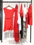 杭州高端品牌女装折扣店姬色jes18夏真丝纯连衣裙