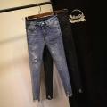 批发韩版尾货牛仔裤工厂在广州尾货牛仔裤市场批发