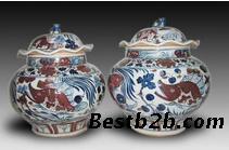 瓷器 釉里红/关键字:元釉里红瓷器拍卖鉴定交易