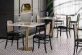 大理石餐桌椅西餐廳大理石餐桌尺寸深圳宜尚定做