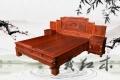 红木爱好者们,送你们一款大红酸枝木床家具