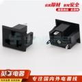 純銅廠家供應美式大三腳三插插座嵌入式多功能美規三插