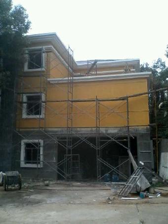 勃蓝登硅藻泥别墅施工氟炭漆