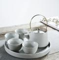 定做陶瓷紀念盤裝飾盤高檔凝脂玉瓷白瓷茶具陶瓷花瓶定