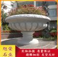 花崗巖石雕花缽 園林花盆房地產別墅景觀雕塑