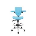新款多功能舒適皮墊坐剎輪穩固科室護腰工作椅