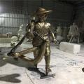 廣州玻璃鋼人物雕塑制作戶外玻璃鋼雕塑
