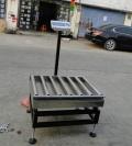 武汉15公斤电子滚筒秤带上下限报警功能,声光报警滚