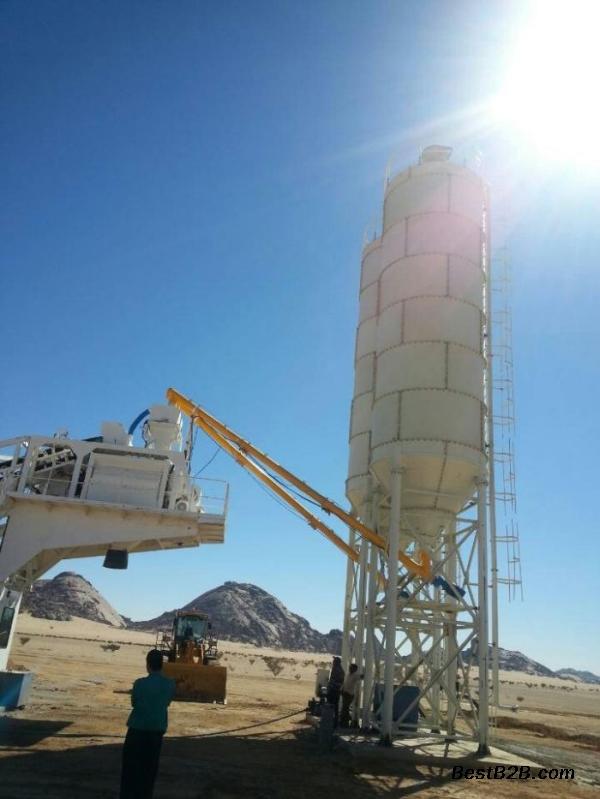 鸿达砼建YHZS35型移动混凝土拌合站