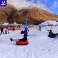 冬季游玩好去处 滑雪场雪地转转玩起来 雪地冰雪飞碟