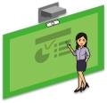 雷視電子交互綠板供應