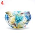 廣州琉璃魚缸擺件 琉璃工藝品 婚房擺件 金玉滿堂