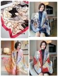 广州品牌折扣女装批发一手货源尾货走份 桑蚕丝丝巾