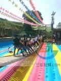 采購網紅橋充氣氣墊找三樂工廠 彩色氣墊視覺很美觀