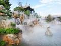 锦胜园林湿地水景假山水雾造景景观喷雾设备