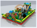恐龙大型充气滑梯游乐场蹦蹦床儿童