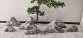 曲陽石雕天然雪浪石切片組合室內枯山水泰山石園林風景