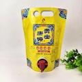 1升红酒袋 果汁饮料食品级双插底手提袋 高阻隔纯铝