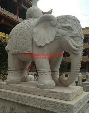石材大象 门口石雕 福建石雕大象