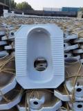 農村家用陶瓷坐便器 旱廁直沖型大口坐便器 含蓋子