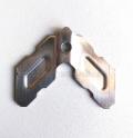 不銹鋼注膠組角片框扇組角帶膠孔加強片推拉平開窗平防