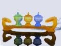 琉璃萬佛墻琉璃佛具琉璃綠度母白度母佛像琉璃佛燈
