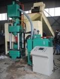 河南全自動液壓鋼屑壓塊機A各種鋼屑充分利用不占地
