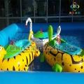 百美定做小孩玩的水上電瓶船各種卡通動物造型