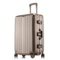 廠家生產直銷鋁框拉桿行李箱萬向輪旅行箱密碼登機箱