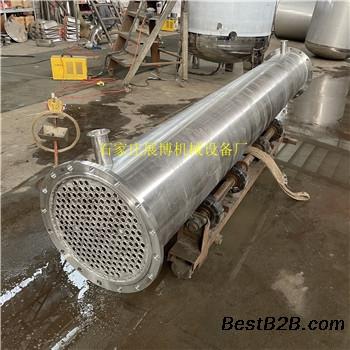 定制不锈钢管式冷却器医药化工用列管式冷凝器热交换器
