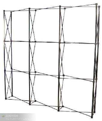 拉网展架具有结构坚固,连接合理,重量轻,携带方便,操作简单,随意