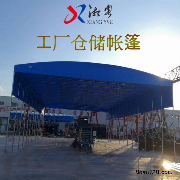 東莞東城區電動折疊棚 大型活動推拉蓬 伸縮遮陽篷