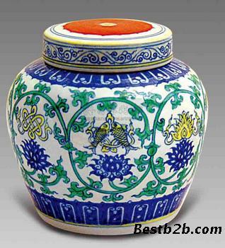 色彩罐子花纹画