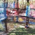 河南商丘景區叢林魔網農莊叢林攀爬網吸引好多游客