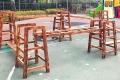 組合攀爬架廠家 幼兒園大型碳化積木生產 幼兒園組合