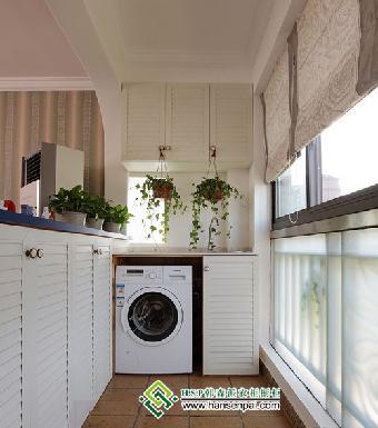广州阳台柜洗衣柜定做