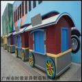 現代化景點裝飾售貨車 木制售貨車可定做