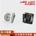 德標電源插座歐式卡入式插座PUD機柜模塊德國插座