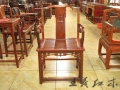 大紅酸枝玫瑰椅家具紅木雕刻大師定做