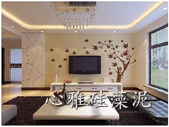 硅藻泥墙面展示效果,包含背景墙系列