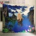 萍鄉3D玻璃浮雕打印機5D電視背景墻噴繪機