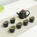 黑陶茶具套裝家用功夫茶杯陶瓷蓋碗泡茶壺禮品送禮禮盒