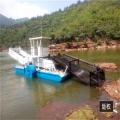 小型河道水草收集保潔船 全自動水葫蘆打撈除草船