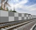 鶴壁鐵路聲屏障水泥木屑小區醫院工廠電廠隔音墻吸聲板