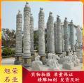 石材景觀柱 花崗巖雕刻十二生肖柱 廣場石雕文化柱