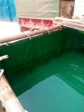 藍色養殖帆布水池-移動養殖帆布魚池-PVC涂層布